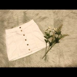 FOREVER 21 White Denim Skirt 🌸
